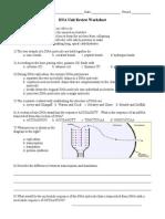 DNA Unit Review Worksheet