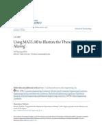 Aliasing Using MATLAB-An Illustration