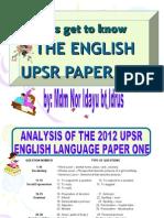English Upsr Paper One