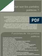 Que son los partidos políticos