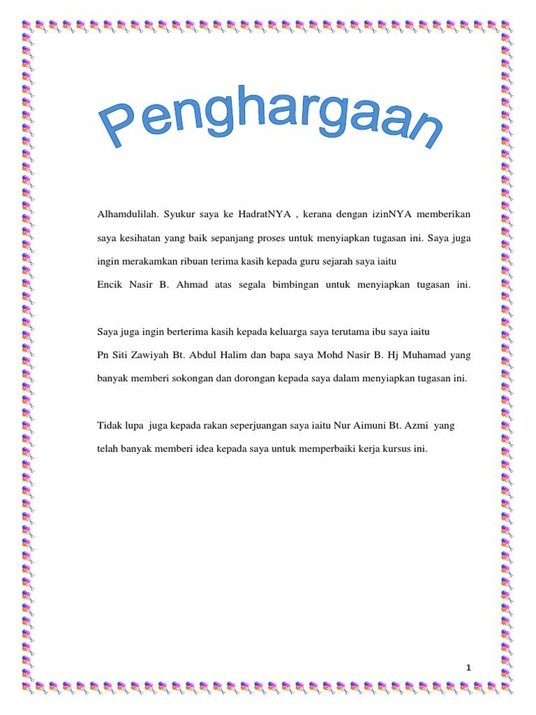 Kerja Kursus Sejarah Tingkatan 2 Kegemilangan Kesultanan Melayu Melaka