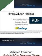 Hive SQLforHadoop