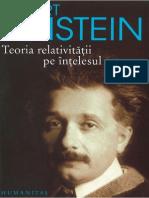 EINSTEIN AL - Teoria Relativitatii Pe Intelesul Tuturor