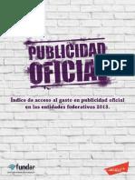 Informe publicado por Fundar y Article 19 sobre el gasto en publicidad oficial en México durante el 2013
