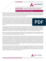 Stock Market Investing What Matters Most-New