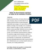 1ra Charla - Los Angeles Buenos Discernimiento y Liberacion