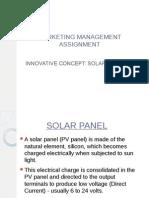 Product Concept- Solar Panels