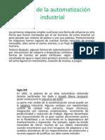 Historia de la automatización industrial