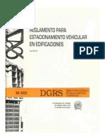 R-002 Estacionamiento Vehicular