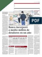 Banca incorporó medio millón deudores un año_Gestión 1-04-2014