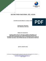 Modelo de consultoría directa Senagua Ecuador