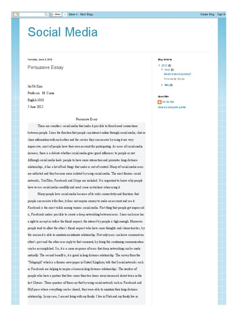 Social media persuasive essay digital social media social media