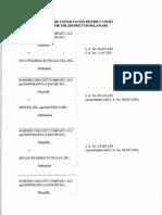 Warner Chilcott Company, LLC v. Teva Pharmaceuticals USA, Inc., et al., C.A. No. 11-81-LPS (D. Del. Mar. 28, 2014).
