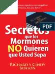 Richard y Cindy Benson - Secretos Que Los Mormones NO Quieren Que Usted Sepa