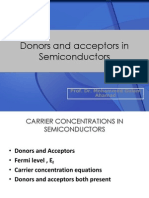 Donors and Acceptors in Semiconductors