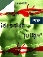 Reconciliation Pour l Algerie