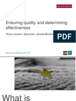 Ensuring Quality and Determining Effectiveness (215716681)