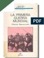 Renouvin Pierre - La Primera Guerra Mundial