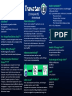 Travatan Z Informational Poster