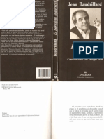 Jean Baudrillard - El Paroxista Indiferente
