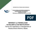 Proiect THR - Restaurant Boema