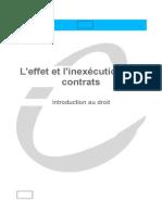 l'Inexecution Des Contrat