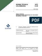 NTC 2129 Dibujo Técnico. Representación Simplificada de Secciones de barras y Perfiles