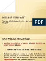 Datos de Jean Piaget y Mario Bunge