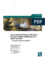 Cisco Unified IP Phone 7970 Series for Cisco Unified CallManager 5.1