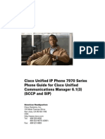 Cisco Unified IP Phone 7970 Series Phone Guide and Quick Reference for Cisco Unified Communications Manager 6.1