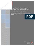 Historia y Clasificacion de Los Sistemas Operativos