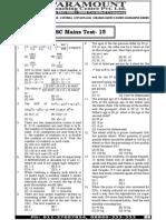 Ssc Mains (Maths) Mock Test-15