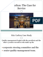 ritz carlton hotel company case study Case study writing service total quality management at ritz carlton p 83) the ritz carlton hotel company uses self directed teams.