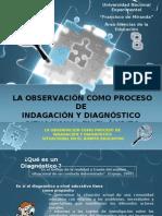 La Observación como proceso de indagación y diagnóstico situacional en el ámbito educativo