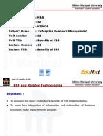 ERP Unit 12 Benefits of ERP PPT