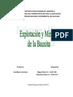 Trabajo Explotación y Minería de la Bauxita