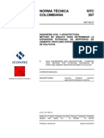 NTC 397 Método de Ensayo Para Determinar la Expansión, Potencial de Morteros de Cemento Pórtland Expuestos a la Acción de Sulfatos