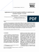 Applications of Structural Equation Modeling in Marketing and Consumer Research
