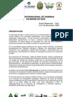 Foro Internacional de Shiringa - Madre de Dios - PERU