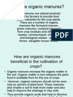 What Are Organic Manures