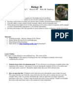 biology 30 syllabus 2014