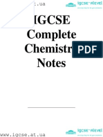 IGCSE Chemistry.notes