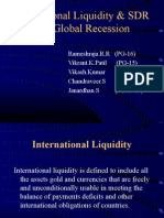 International Liquidity & SDR and Global Recession