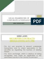 Legal Framework of Corporate Governance