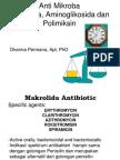 makrolida, aminoglikosida&polimiksin