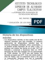 EXPO 1.1 EVOLUCIÓN  DE LOS DISPOSITIVOS MOVILES