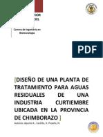 DISEÑO DE PLANTA CURTIEMBRE