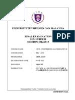 Final Exam Set A