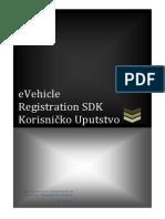 eVehicle Registration SDK Korisnicko Uputstvo