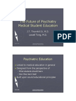 The Future of Psychiatry Medical Student Education